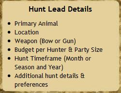 Hunting Lead Details